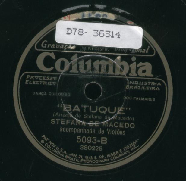 Dansa do Quilombo dos Palmares - Acervo Discoteca Oneyda Alvarenga